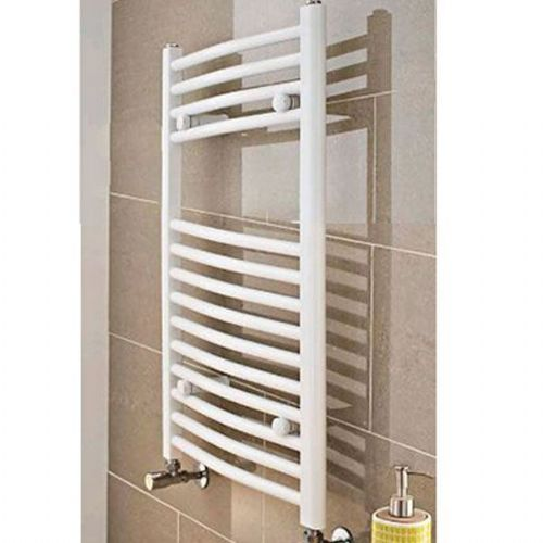 Kartell K-Rail Premium Curved Towel Rail - 400mm x 750mm - White